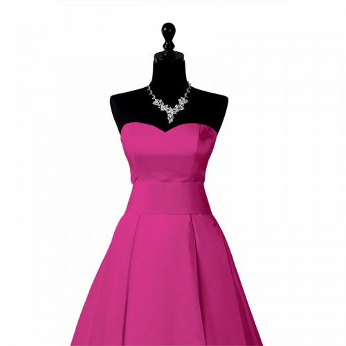 Satin extensible fuchsia