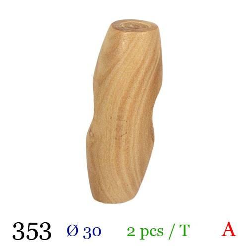 Bouton bois buchette 30mm
