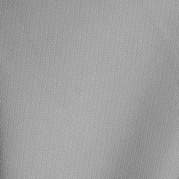 Maille extensible gris perle à relief losange