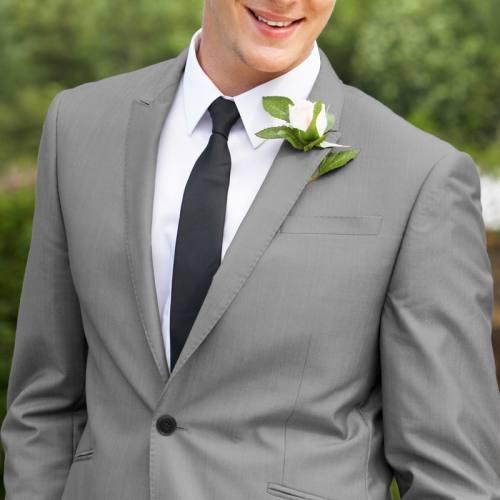 Tissu gris pour costume