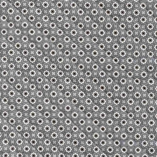 Tissu matelassé imprimé graphique gris double face