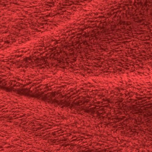 Tissu éponge rouge groseille