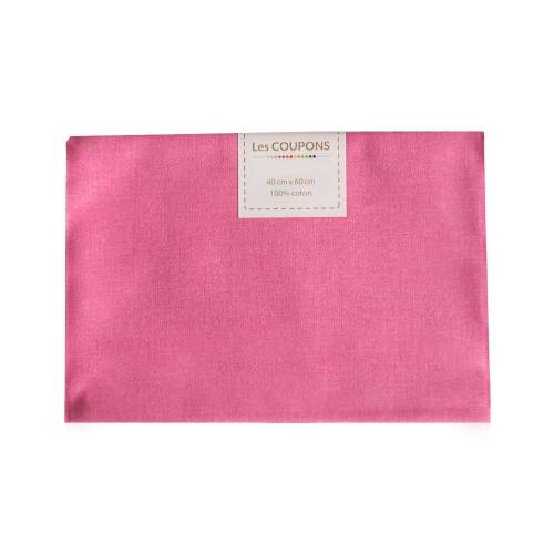 Coupon 40x60 cm coton uni rose