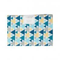 Coupon 40x60 cm coton triangle bleu