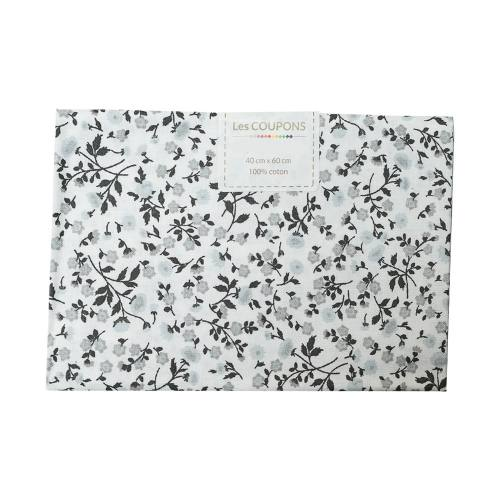 Coupon 40x60 cm coton liberty noir