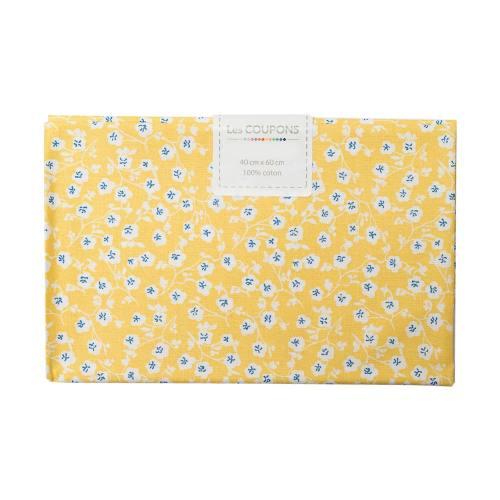Coupon 40x60 cm coton imelda jaune