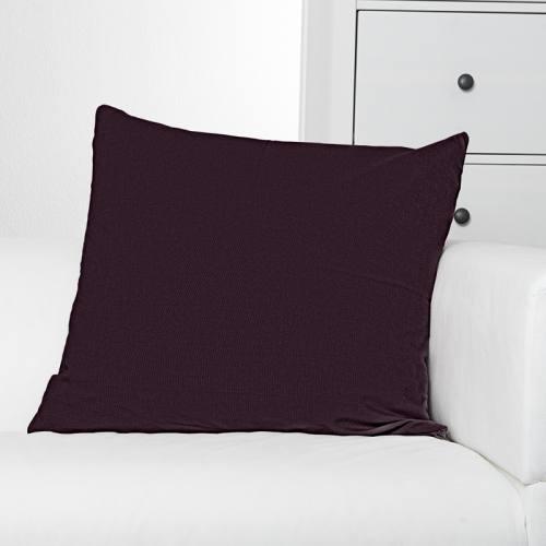Toile coton prune grande largeur