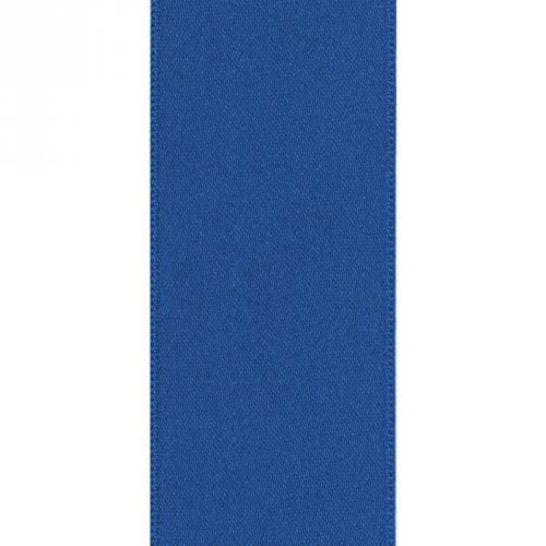 Ruban satin double face bleu 66mm