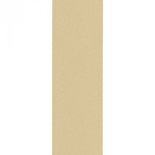 Ruban satin double face beige 39mm