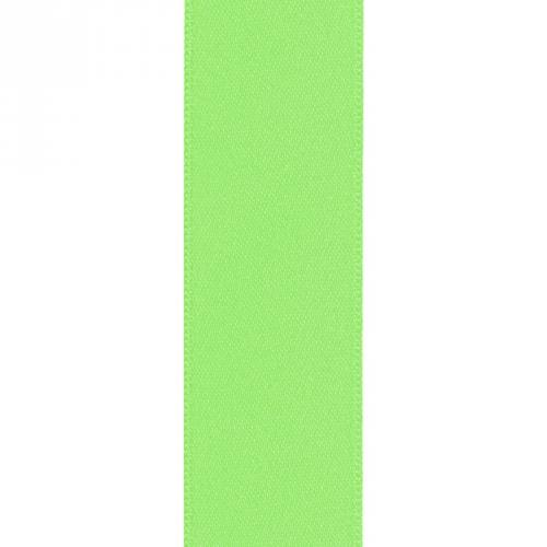 Ruban satin double face vert pomme 39mm