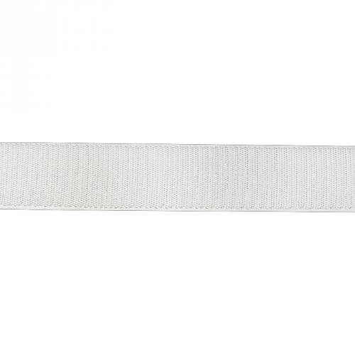 Auto agrippant adhésif crochet 20 mm blanc