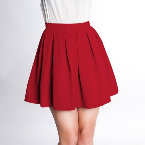 Tissu crêpe extensible rouge