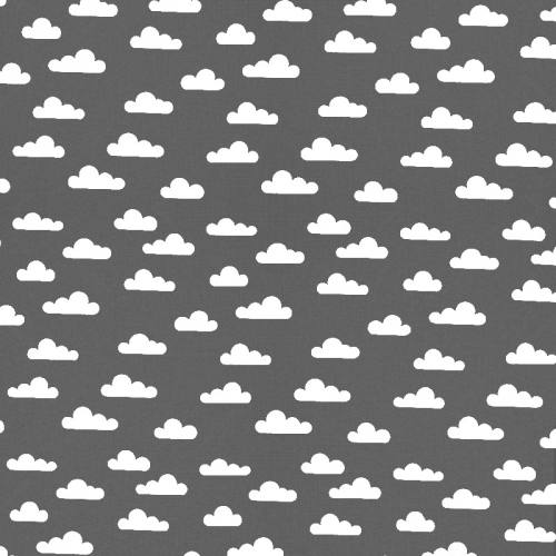 Popeline anthracite nuage