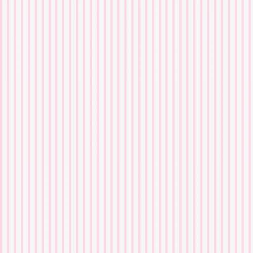 Popeline rayée rose pastel