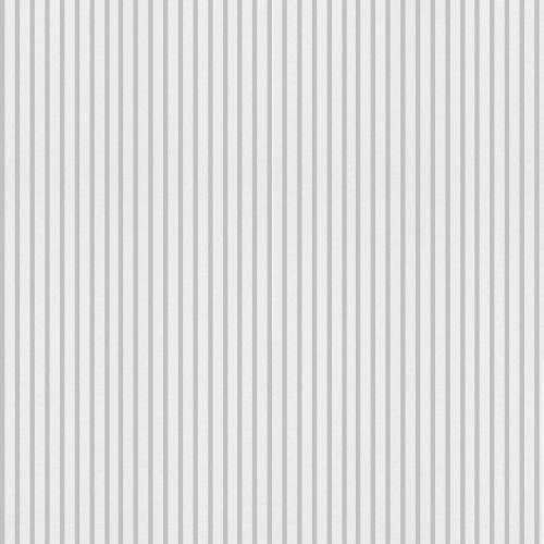 Popeline rayée grise
