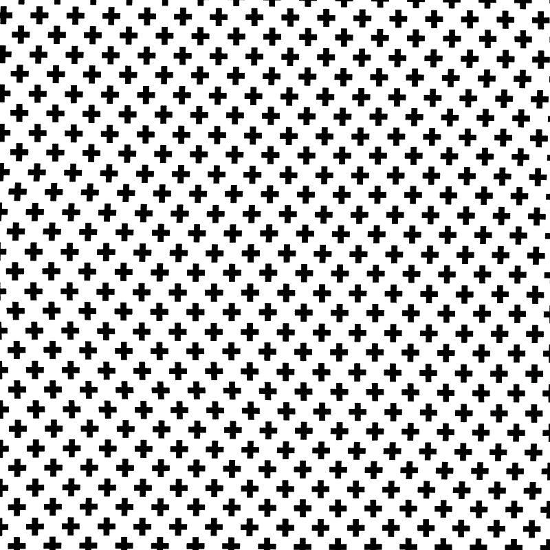 jersey blanc motif croix noire pas cher tissus price. Black Bedroom Furniture Sets. Home Design Ideas