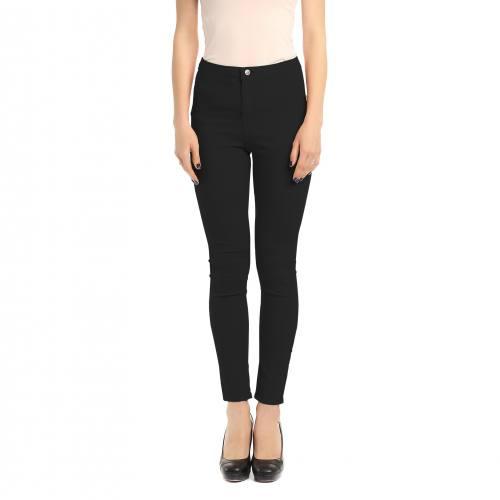 Tissu jean uni noir