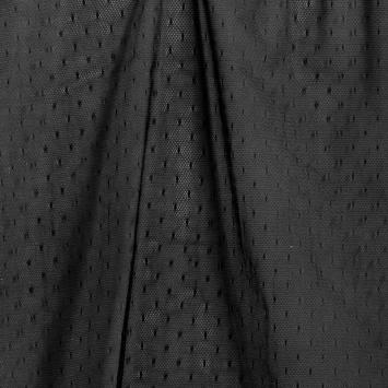 Résille noire plumetis