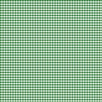 Coton vichy vert 5 mm