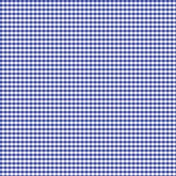 Coton vichy bleu roi 5 mm