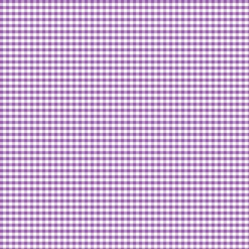 Coton vichy lilas 5 mm