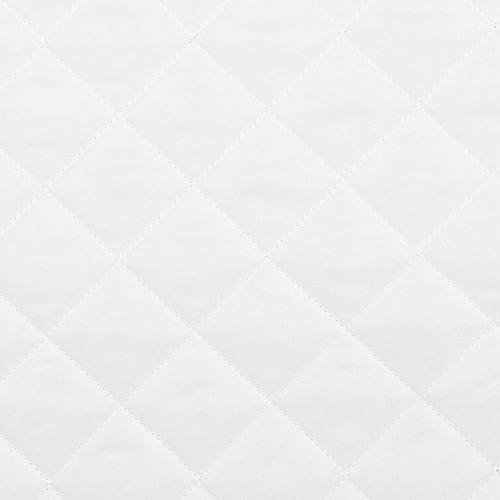 Tissu matelassé blanc