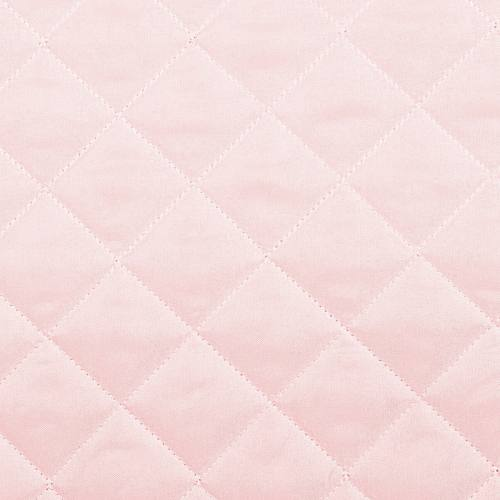 Tissu matelassé rose pastel