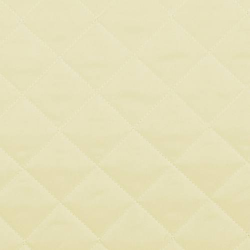 Tissu matelassé jaune pastel