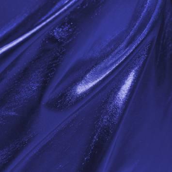 Lycra métallisé bleu roi