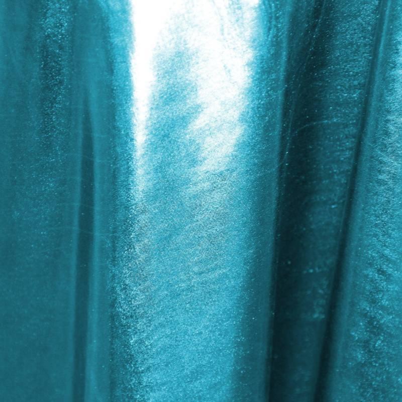 Lycra métallisé bleu turquoise