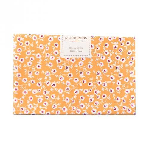 Coupon 40x60 cm coton imelda jaune blé