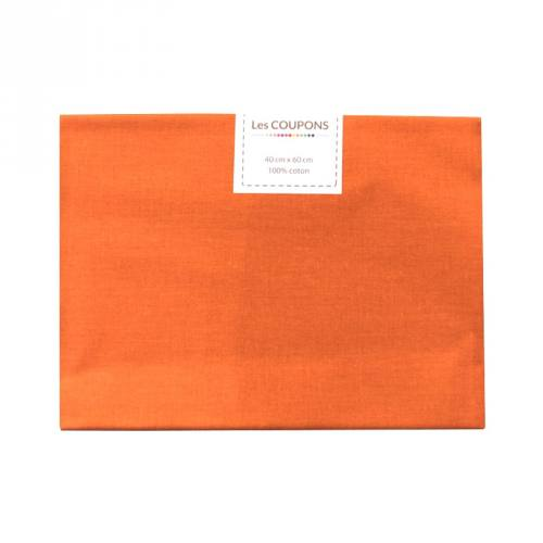 Coupon 40x60 cm coton uni orange