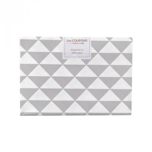 Coupon 40x60 cm coton gris clair vintage