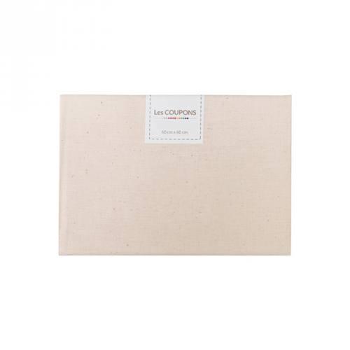 Coupon 40x60 cm coton naturel