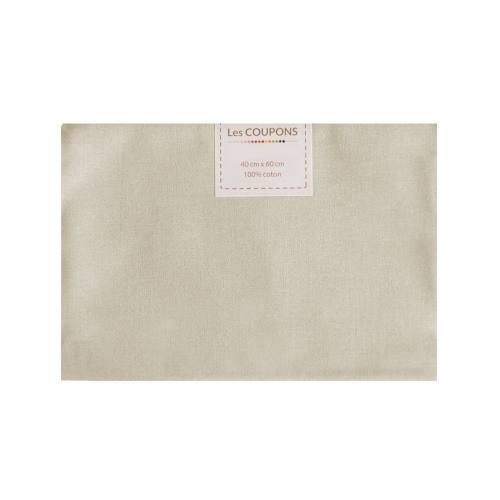 Coupon 40x60 cm coton beige