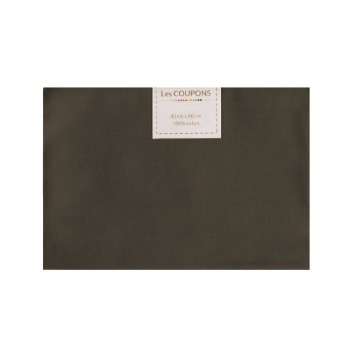 Coupon 40x60 cm coton marron