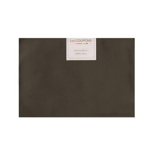 Coupon 40x60 cm coton marron