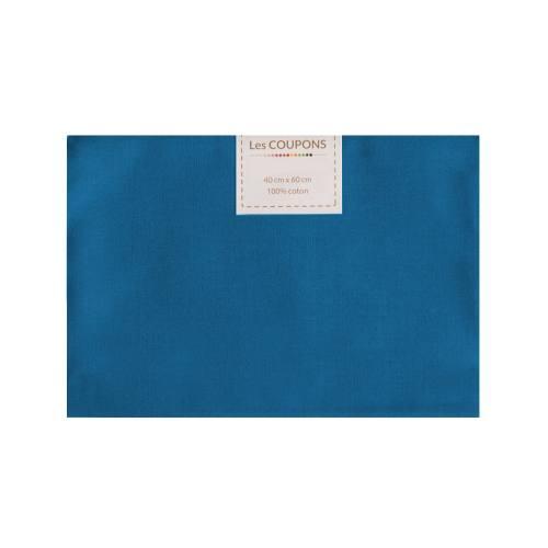Coupon 40x60 cm coton bleu roi