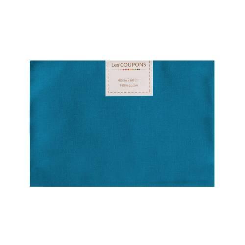 Coupon 40x60 cm coton bleu foncé