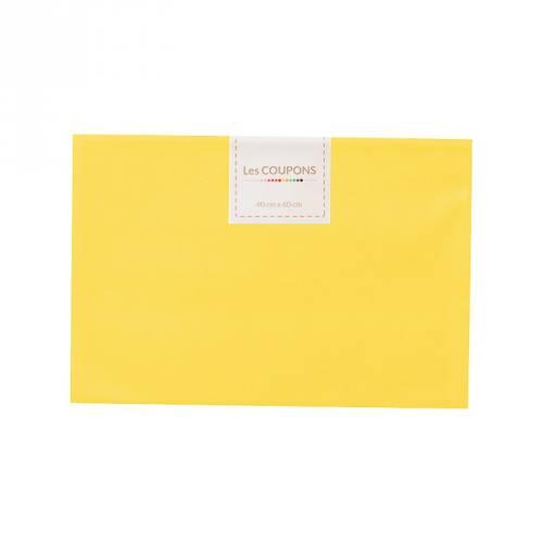 Coupon 40x60 cm coton jaune