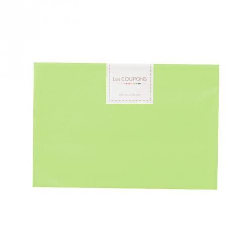 Coupon 40x60 cm coton vert pomme