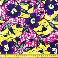 Wax Tissu Africain Fleurs Hibiscus Violettes Pas Cher Tissus Price