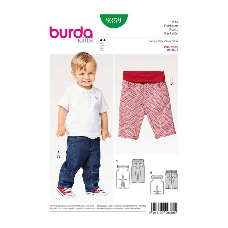 e474b3c729e7 Patron Burda 9359   Pantalon Taille 62-98 cm pas cher - Tissus Price