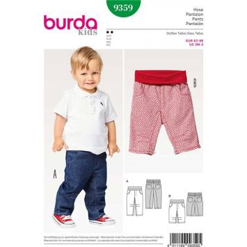 Patron Burda 9359 : Pantalon Taille 62-98 cm