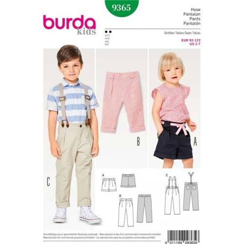 Patron Burda 9365 : Pantalon Taille : 92-122 cm