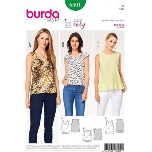 Patron Burda 6501 : Haut Taille 34-46