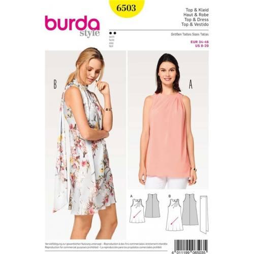 Patron Burda 6503 : Haut & Robe Taille 34-46
