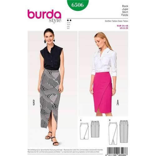 Patron Burda 6506 : Jupe Taille 34-46