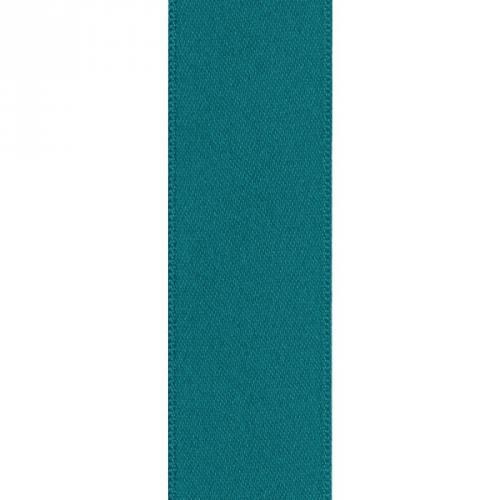 Ruban satin double face bleu canard 39mm
