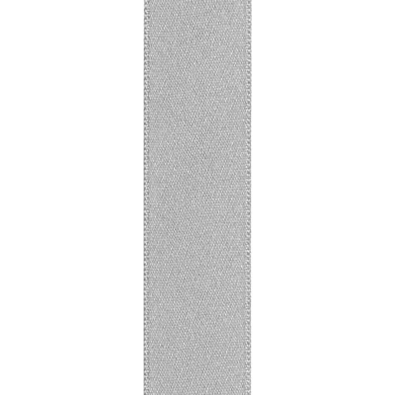Ruban satin double face gris perle 25mm